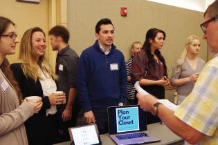Students at Seawolf Pitch Competition