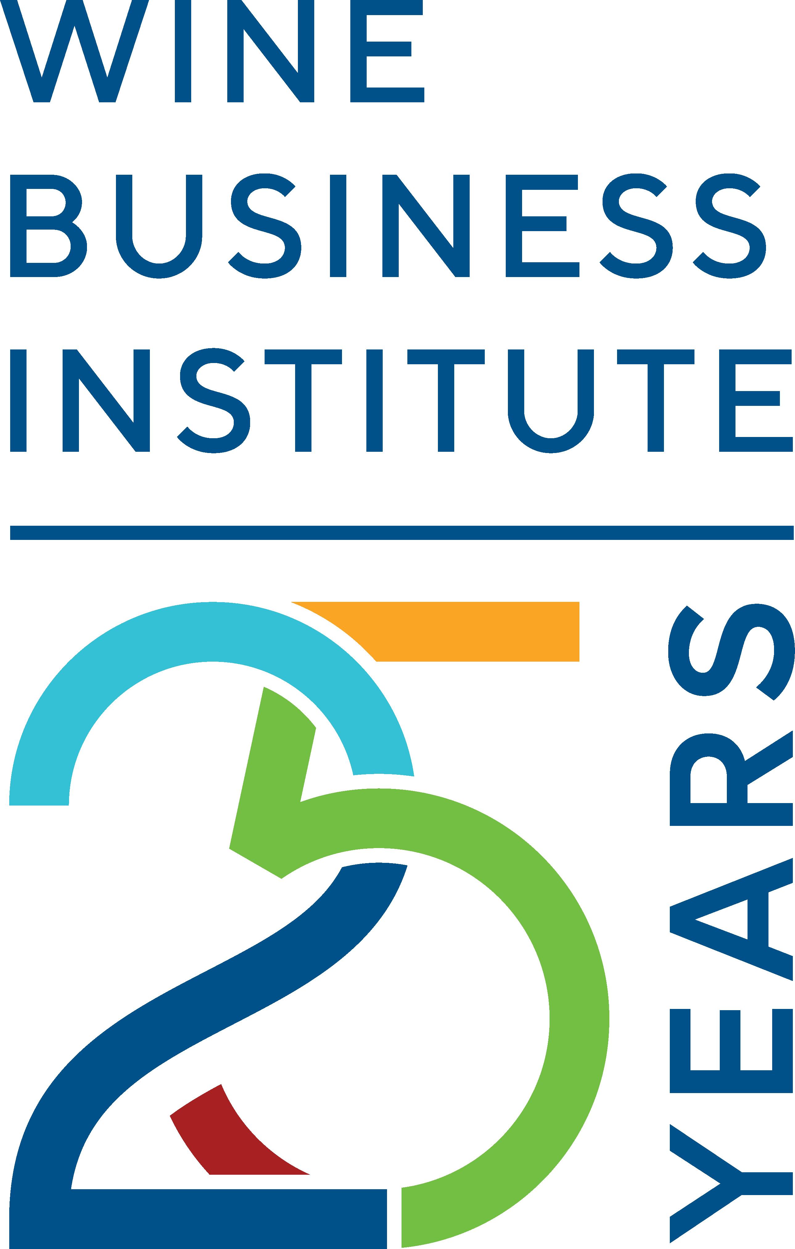 Wine Business Institute 25th anniversary logo